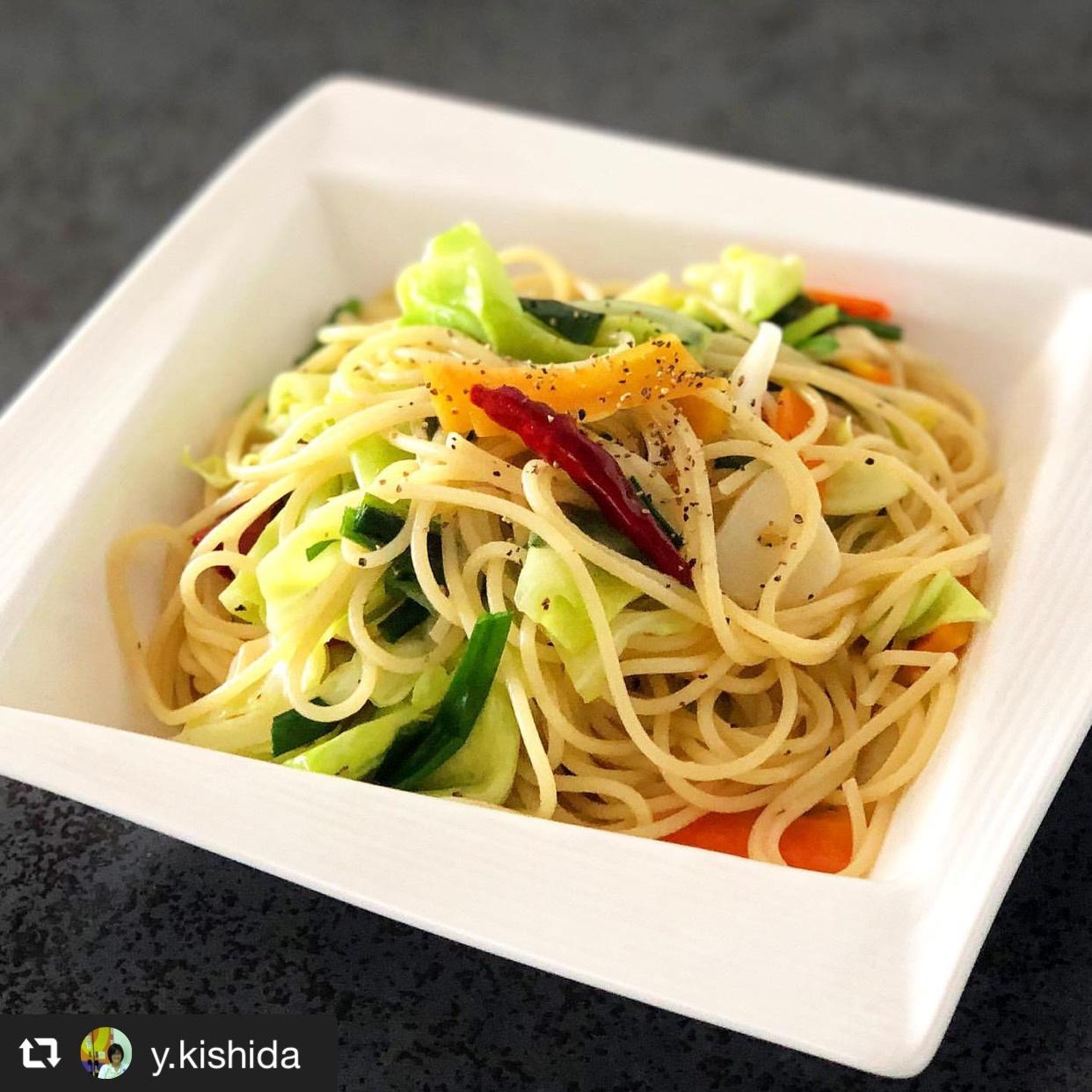 残り野菜でペペロンチーノ 画像1
