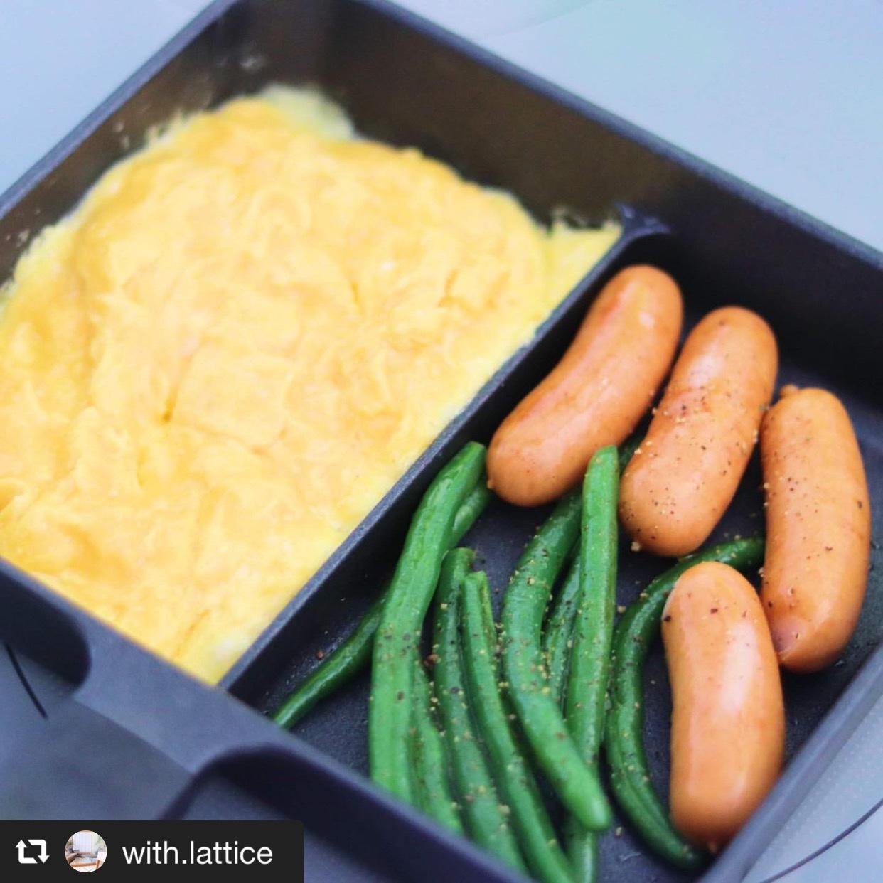2種類のおかずを同時調理! ニトリのセパレートパンが便利 画像1