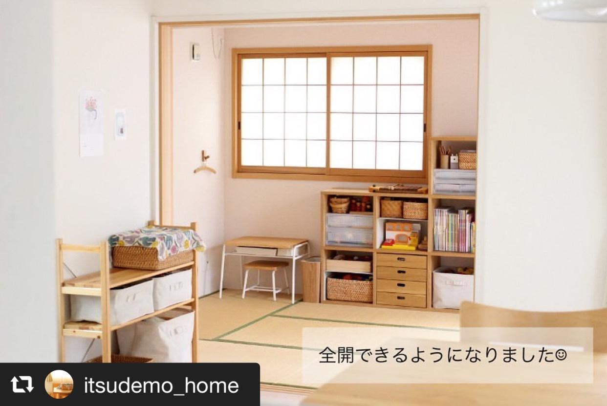 和室の入り口のふすまをロールスクリーンに付け替え 画像2
