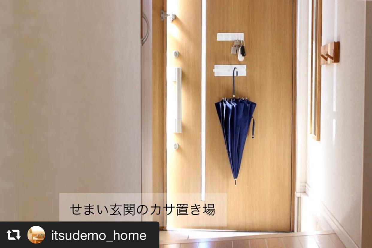 玄関の傘掛けに、バスブーツホルダーを使用 画像1