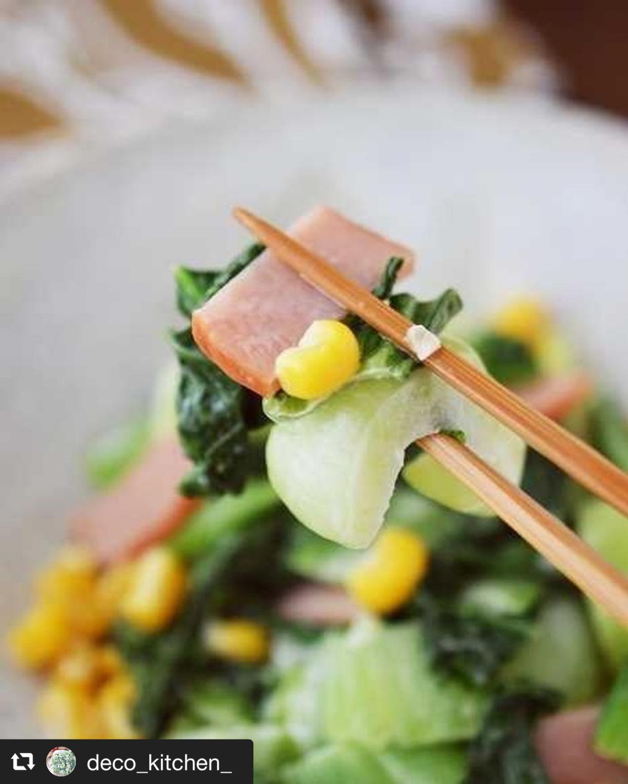 胃腸に優しい『青梗菜と焼き豚のめんつゆマヨ和え』 画像2