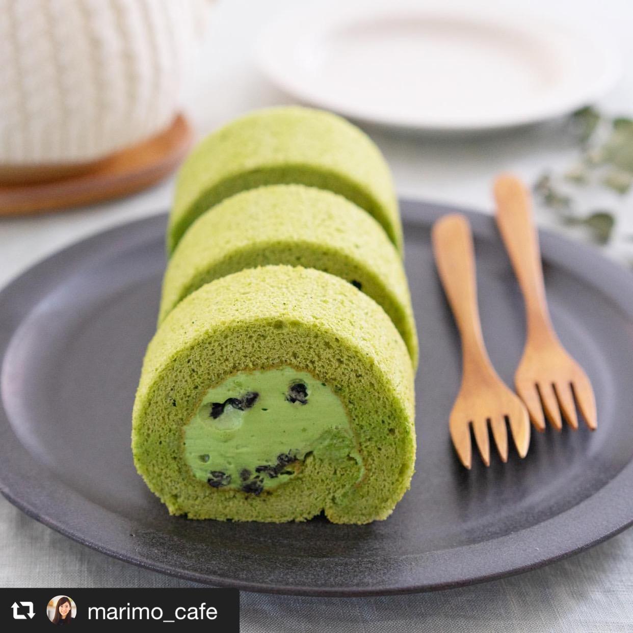 抹茶のロールケーキ 画像1